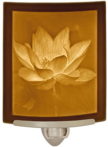 Lotus Flower - Curved Porcelain Lithophane Night Light ()