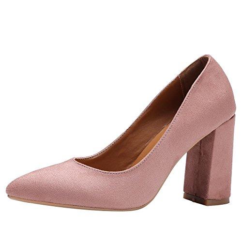 MissSaSa Damen high heel Spitz step Pumps Rosa