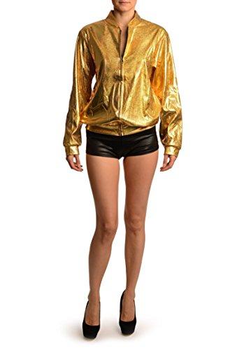Unique Disco 38 Gloss Jacket Sparkles Unisex Shiny Dor Taille 34 Veste Gold Zip 1WwX7vxq