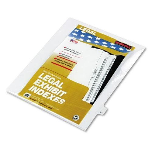 Kleer-Fax 82221 80000 Series Legal Index Dividers, Side Tab, Printed 21, 25/Pack by Kleer Fax