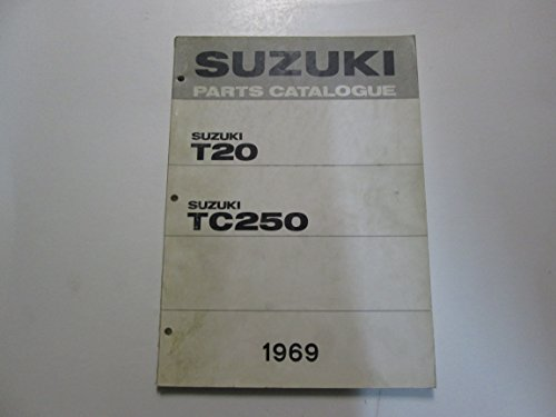 1969 Suzuki T20 TC250 Parts Catalog Catalogue Manual FADED STAINED DAMAGED