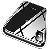 RANVOO iPhone Xs case, iPhone X case Protective Clear Case [Certified Military Protection] [Agile Button] with Reinforced Soft TPU Bumper and Transparent Hard PC Back Case Cover