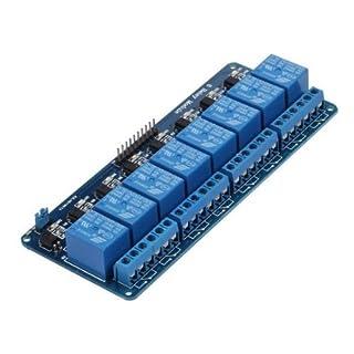 Kuman 5V 8 Canales Escudo Módulo de Relé para Arduino UNO R3 1280 2560 ARM PIC AVR STM32 Raspberry Pi DSP K30