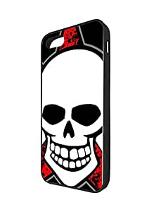 Marvel Comics The Red Skull for Iphone 5/5s Fundas Case, Customized Iphone 5s Hard Back Case Fundas Protective The Red Skull Logo Black Phone Case
