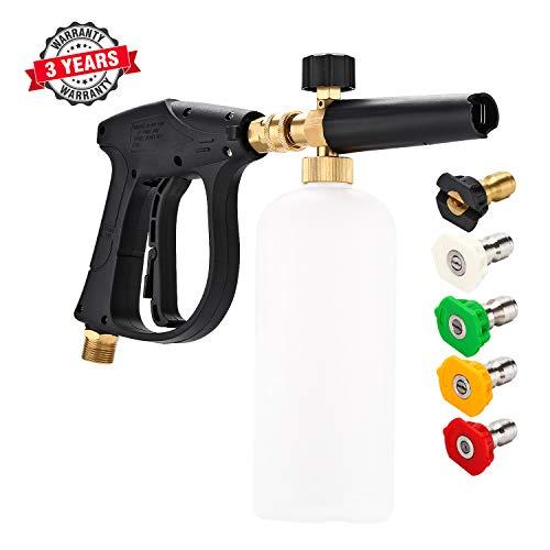 3000 PSI High Pressure Washer Gun, M22 Thread, Snow Foam Lance, Snow Foam Cannon