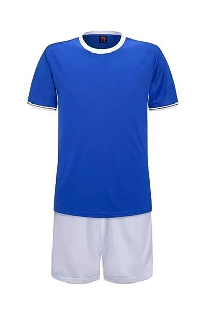 ZEVONDA Cómodo Equipo de Jersey Kit para Niños y Hombres 2 Piezas de Camiseta de Fútbol