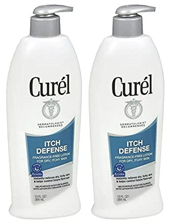 Curel Itch Defense Lotion For Dry, Itchy Skin 13 oz (Pack of 4) Bottoms Up Anal Comfort Lube - 6.3 oz