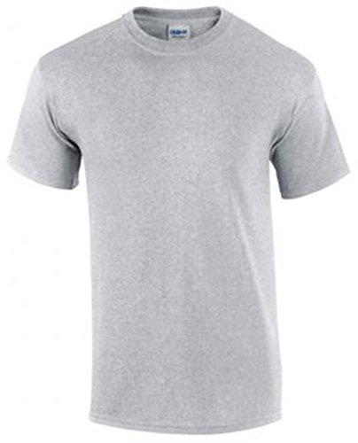 Ultra T Corte Sport shirt Maniche Grigio Cotone Uomo Gildan ZPTHFwq7w