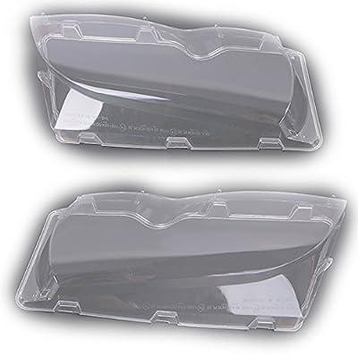 Arotom Car Headlight Lens Cover Fit for BMW 3 Series E46 4-Door 2002-2005 Pair