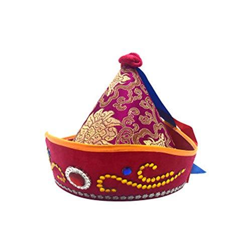 SUNNYHILL China Mongolian Dance Performance Headdress Ancient Scholar Cap Cosplay Hat -