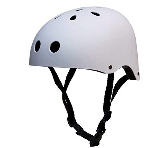 Techcell Multi Sport Helmet Kids Bike Helmet Skateboard Helmet for Cycling, Skateboarding, Scooter, Roller Skating, BMX and Outdoor Action Sports,Small Size (White)