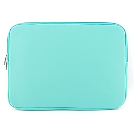 Amazon.com: eDealMax cremallera Dual de la tableta de la Manga protectora de la caja de la Turquesa por aire de MacBook Pro 13.3inch: Electronics