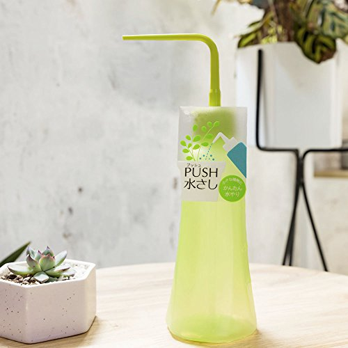 Mkono 2Pcs Succulent Watering Bottles Water Can Plastic Bend Mouth Squeeze Bottle - 250ML & 500ML - Green