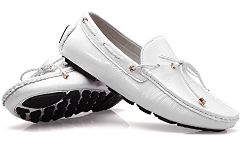 Flats Dress Moccasin Style Shoes Waterproof Walking Loafers New Boat Driving Breathable White Men's TDA Penny Leather 8TS7qP8x