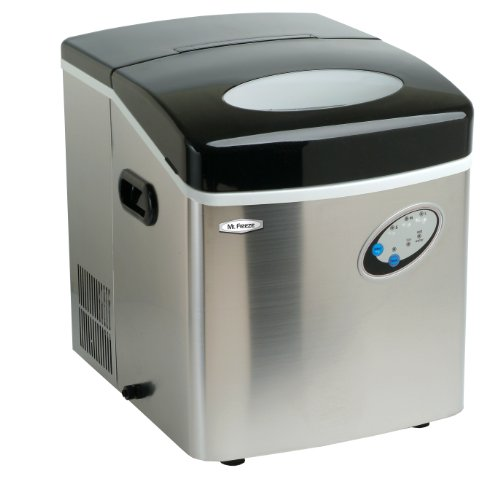 MaxiMatic MIM-88 Mr Freeze Portable Ice Maker, Stainless Steel