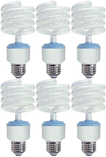 Set of 6 GE Lighting 67466 Reveal CFL 3-way 32/25/16-Watt (150-watt replacement) 1935/1440/540-Lumen T3 Spiral Light Bulb with Medium Base