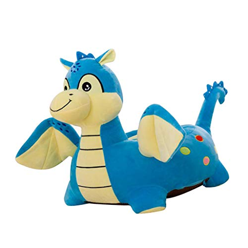 Flameer Baby Kids Animal Beanbag Sofa Chair Cover Stuffed Animal Bean Bag (Without Fillings) - Fly Dragon(Blue)