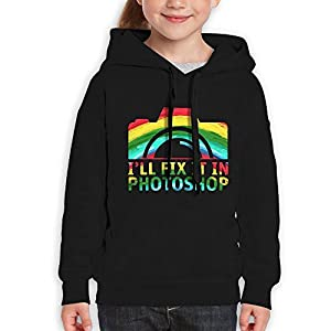 I'll Fix It In Photoshop Hoodie Youth Pullover Hooded Sweatshirt M
