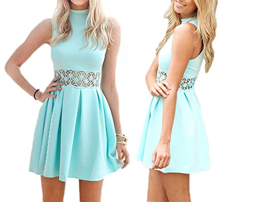 Eliffete Girls Sexy Clubwear Short Vintage Party Prom Homecoming Dress for Prom -