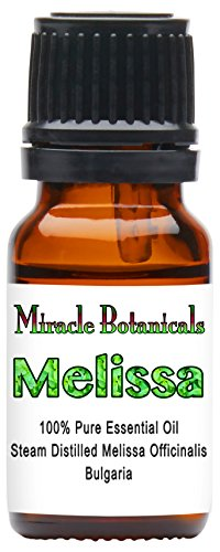 Miracle Botanicals Melissa (Lemonbalm) Essential Oil – 100% Pure Medicinal Grade Melissa Officinalis 10ml