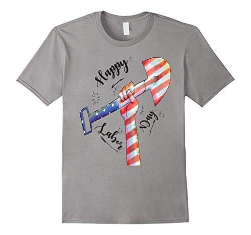 Mens Labor Day 2017 T Shirt Tshirt American Style Cool Look Medium Slate