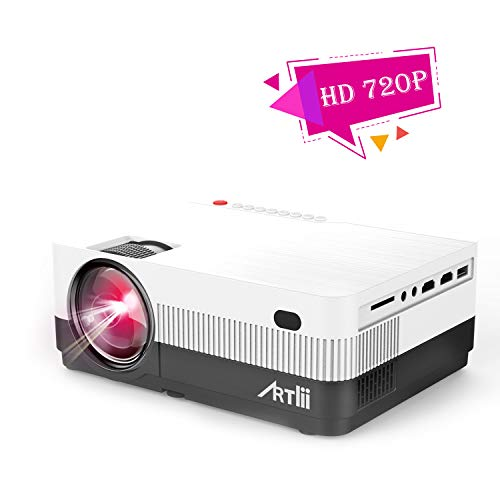 Artlii Portable Movie Projector Full HD 1080P Support