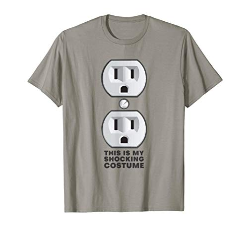 Electrical Outlet Plug T-Shirt Shocking Halloween Outfit Tee ()