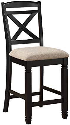 Homelegance Two-Tone Counter Height Chair Set of 2