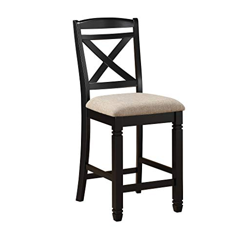 Homelegance Two-Tone Counter Height Chair Set of 2 , Black Natural