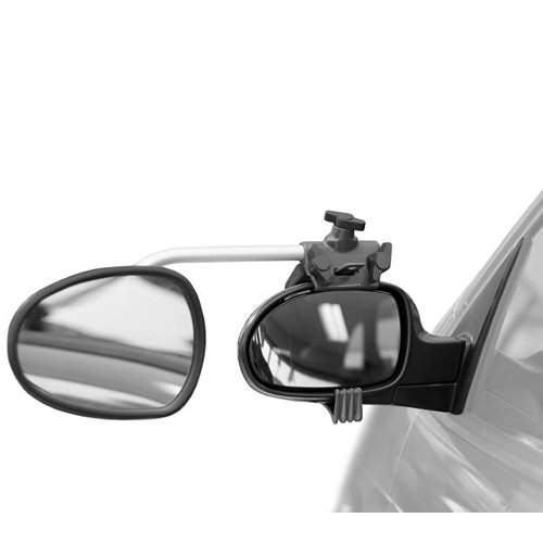 REPUSEL universal towing mirrors - Luxmax, convex ANTI GLARE blue tinted glass, and EXTRA long arm (per pair) by REPUSEL (Image #3)