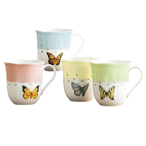 Lenox Butterfly Meadow Mugs, Set of (Yellow Mug Set)
