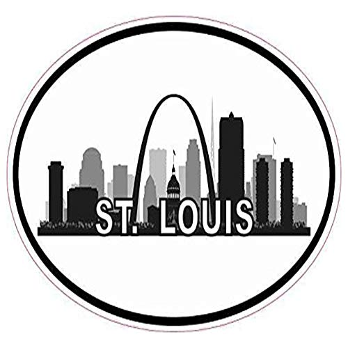 Ross Stores Oval St. Louis Skyline Vinyl Luggage Car - Sticker Graphic - Auto, Wall, Laptop, Cell, Truck Sticker for Windows, Cars, ()