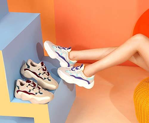 Scarpe Scarpe Autunno Brutte Sportive Opzionale Femminile Scarpe Hong Style Kong Colore da Fire Super donna fT8nvz