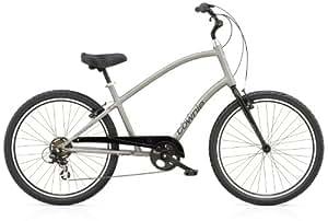 "Electra Townie Original 7D - Bicicleta urbana para hombre (26"", sin guardabarros), color gris"