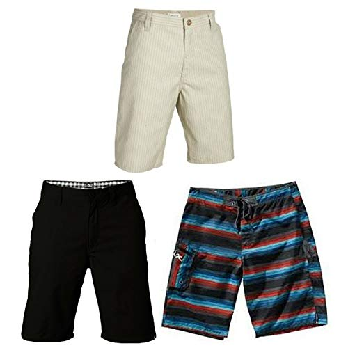 Matix Back to School Skateboard Shorts 3-Pack Sale Size 28 Black Khaki ()