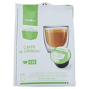 Capsule Compatibili Dolce Gusto by Gimoka - Caffè al ginseng, 4 confezioni (16 capsule per confezione), TOTALE 64…