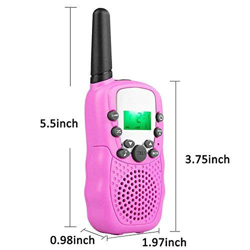 4Pack Kids Rechargeable Walkie Talkie Girls Boys Long Range Two Way Radio 22 Channel LED Flashlight Marine Cruise FRS Camping Accessories Toys Hiking Family Games Outdoor Holiday Birthday Gifts by iGeeKid (Image #5)