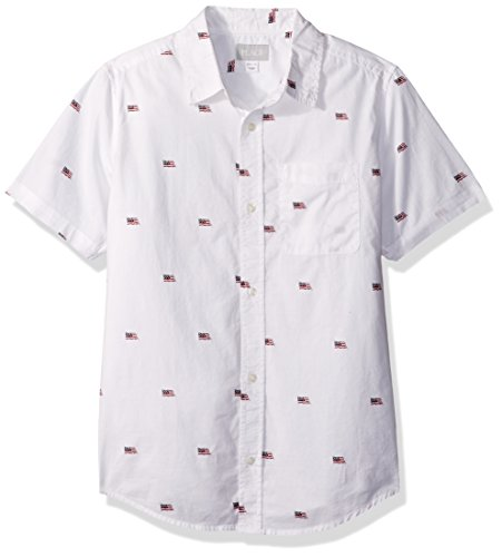 The Children's Place Big Boys' Flag Woven Shirt, White, S (5/6) by The Children's Place (Image #1)