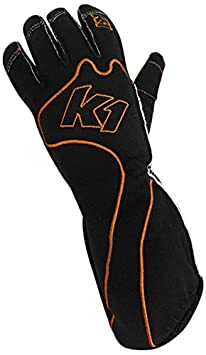 13-RS1-O-XS K1 Race Gear RS1 Reverse Stitch Kart Racing Gloves Orange//Black, X-Small