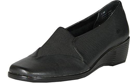Jes Schoeisel Womens Boston Comfort Flats Schoenen Zwart.