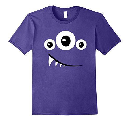 Mens Funny Scary Monster Costume Halloween Shirt Kids Men Women Large Purple - Best Friend Costumes Diy