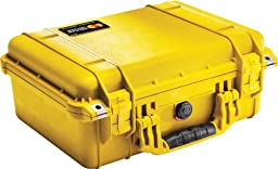 Pelican 1450 Case with Foam (Camera, Gun, Equipment, Multi-Purpose) - Yellow