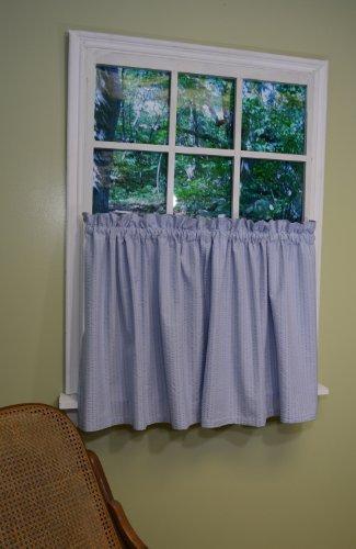 Curtain-Chic-Chambray-Seersucker-Tier-24-Inch-Blue