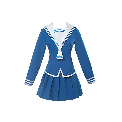 COSEASY Womens Fruits Basket Tooru Cosplay Costume School Uniform Sailor Dress Skirt Suit Blue