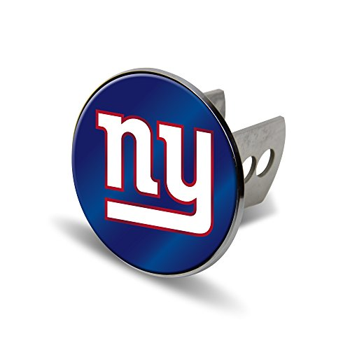 Rico NFL New York Giants Laser Cut Metal Hitch Cover, Large, Silver