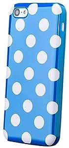 Apple iPhone 5C   iCues lunares TPU Azul   Señoras de las mujeres de las muchachas de gel de silicona adorno del modelo de piel protectora de protección [protector de pantalla, incluyendo] Cubierta Cubierta Funda Carcasa Bolsa Cover Case