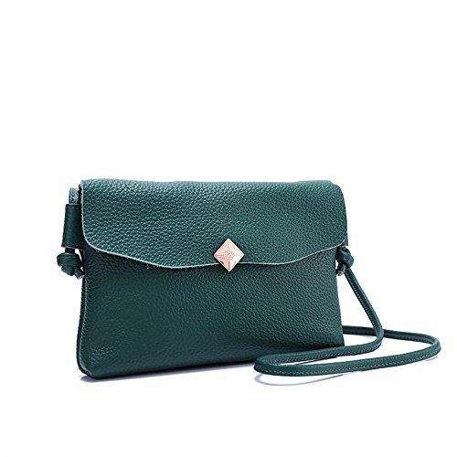 GWQGZ La Moda Minimalista Señoras Bolso De Hombro Elegante Elegante Bolso Gris Green