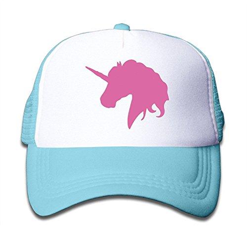 NVJUI JUFOPL Kids Pink Unicorn Polo Horse Trucker Hats Youth Mesh Caps, Snapback Baseball Cap -