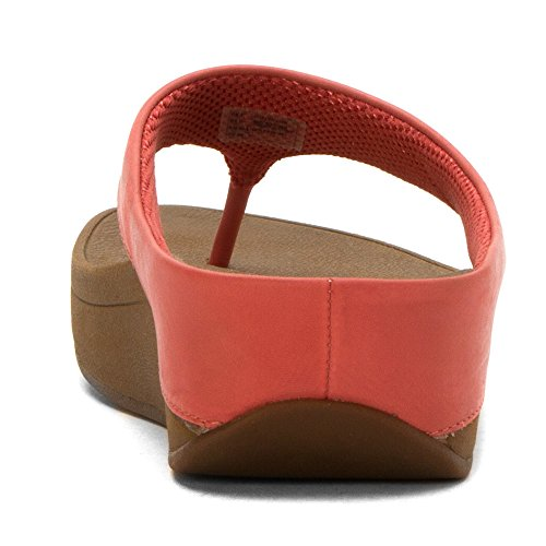 Espejo De Oro Sandalias Fitflop Timbre Del Dedo Del Pie-post Lipstick Rose Leather