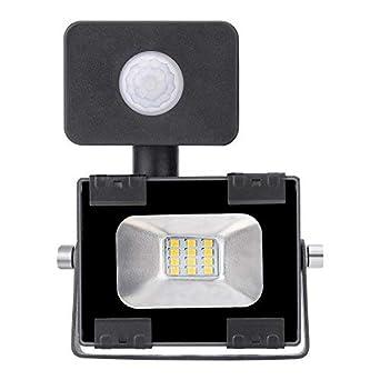 10w Foco led exterior con Sensor Movimiento ,Led Proyector para Exterior Iluminación Decoración alto brillo
